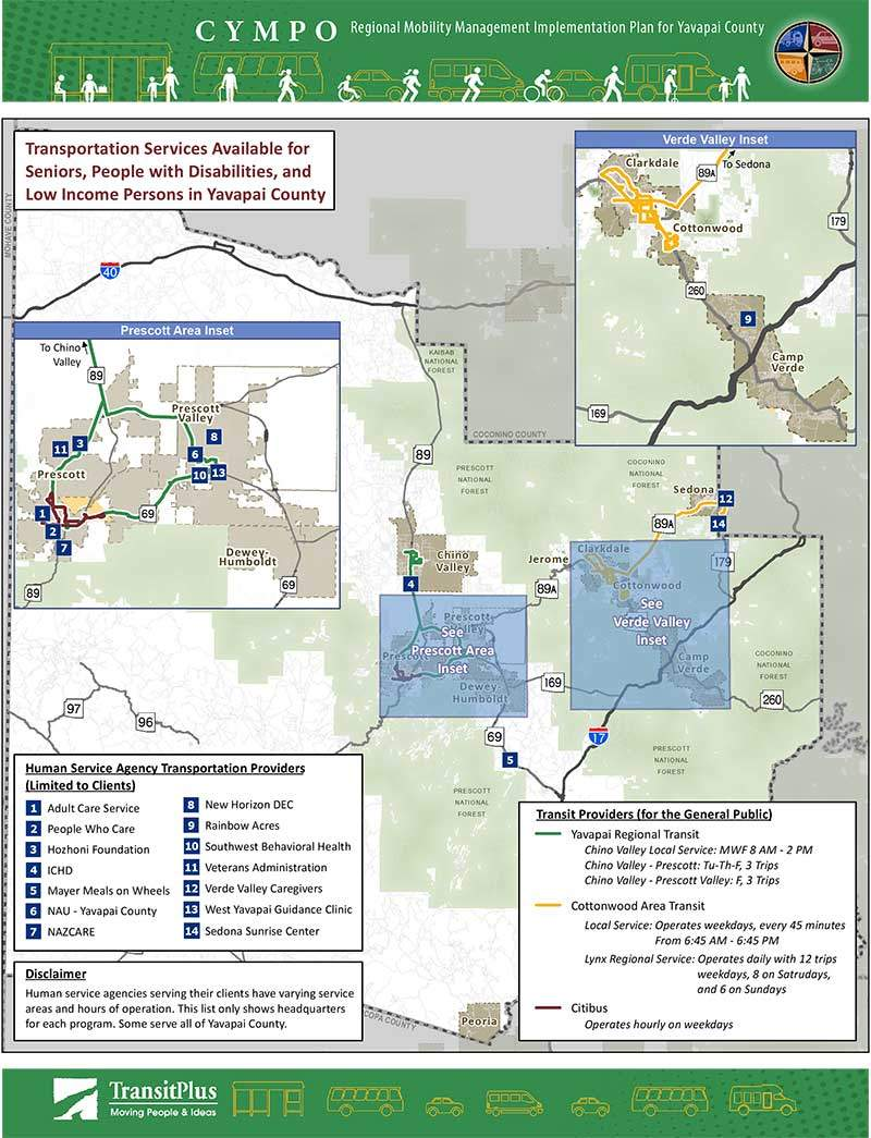 Yavapai County Regional Mobility Transportation Planning Map